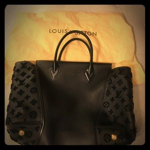 Louis Vuitton cashmere Vel Noir tote